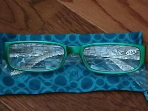 Joy Mangano Reading Glasses  (3.5 strength)  Green