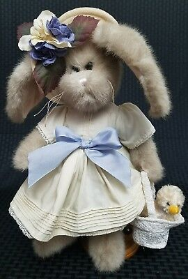 "Toys & Hobbies Strict Bearington Collectible Bunny Rabbit Named ""tulip"" With Her Own Duckie In Basket Low Price Bearington"