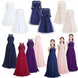 Bridesmaid Long Maxi Gown Dress Chiffon Flower Girl Wedding Pageant Formal Jr