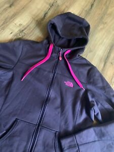 The-North-Face-Hooded-Fleece-Softshell-Womens-Jacket-Purple-Size-M