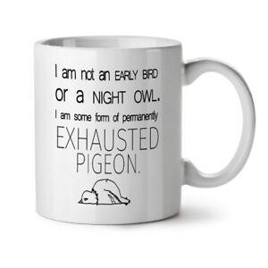 Exhausted Pigeon NEW White Tea Coffee Mug 11 oz   Wellcoda