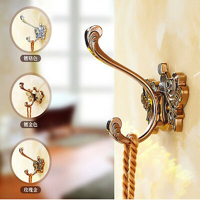 Bathroom Accessories Flower Carved Bathroom Hooks Hangers Clothes Coat Hat Pegs