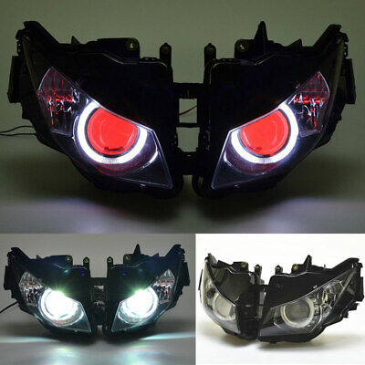 White/&Red Eye HID Projector Assembly Headlight for Honda CBR1000RR 2012-2016