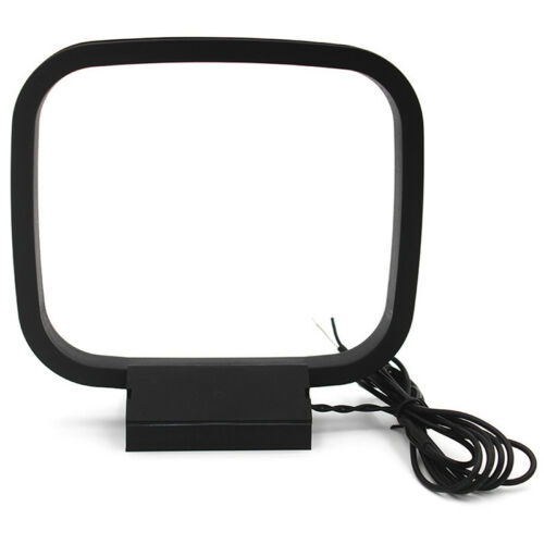Indoor AM FM Loop Antenna Aerial Connector for StereoAudio Receiver System EC