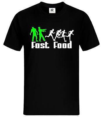 Zombie Fast Food T-Shirt Fun Shirt Lustig Walking Dead Kult Shirt mycultshirt
