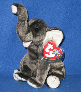 TY TRUMPET the ELEPHANT BEANIE BABY - MINT with MINT TAGS 8421042760 ... 999155382a3