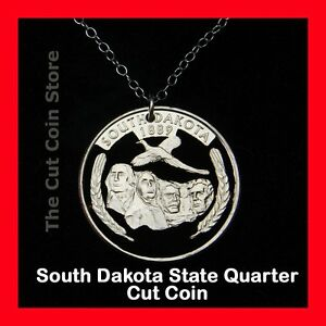 Mount-Rushmore-South-Dakota-25-SD-Quarter-Cut-Coin-Necklace-State