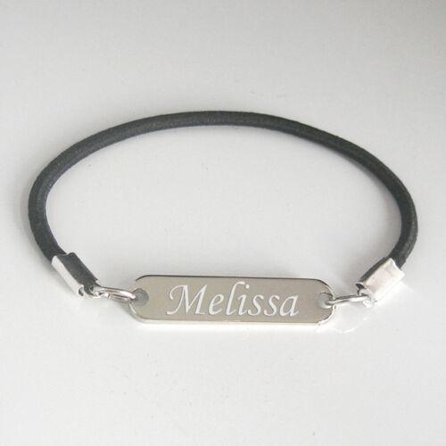 Bracelet femme personnalisé prénom gravé