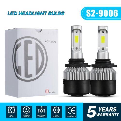 Pair 9006 HB4 LED Headlight Bulb Kit Low Beam 6000K 1320W 198000LM White Light