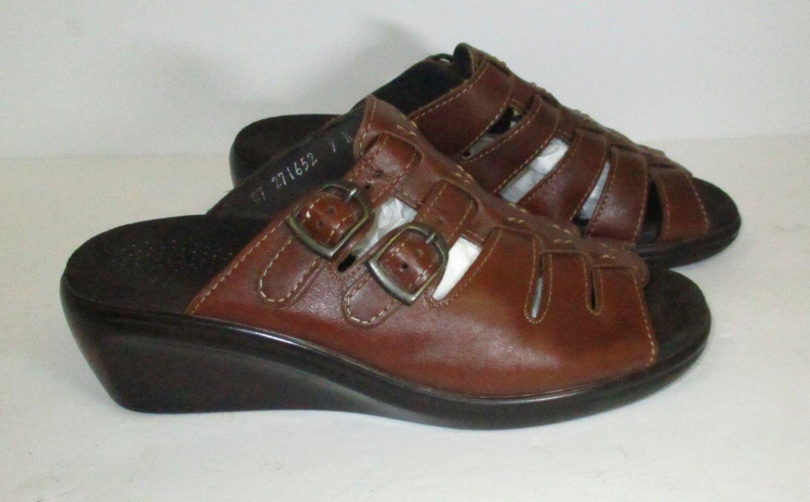 SAS Women's Tri pad comfort-Brown Slip on Sandals-7N