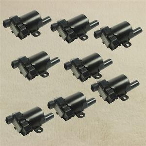 Automotive 8x Ignition Coils Round for 2004 Buick Rainier Chevrolet SSR 2003 V8 Spark Coils