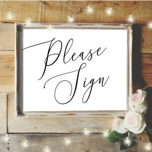 Alternative Wedding Guest Book.Details About Please Sign Wedding Guest Book Sign Guest Book Alternative Wedding Table Sign
