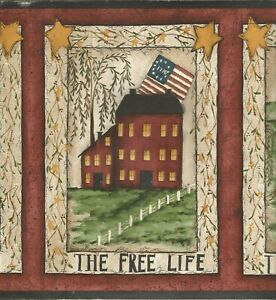 Details About Warren Kimble The Free Life Simple Blessed Good Wallpaper Border Fk3936b