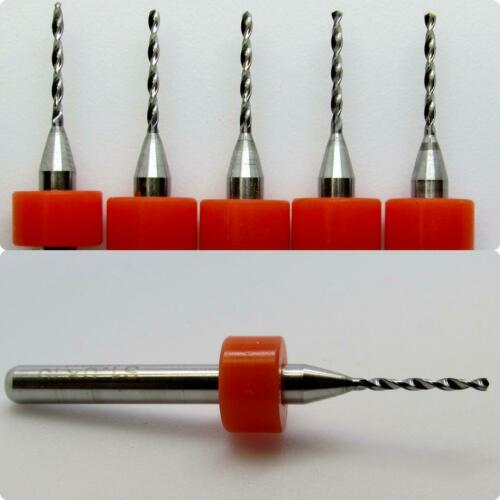 """Five Pieces #61 .039/"""" 1.00mm  Solid Carbide Drill Bits 1//8/"""" Shanks LU"""