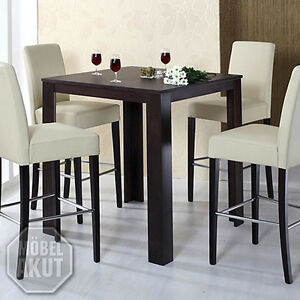 bartisch dalor tisch bistrotisch in buche kolonial massiv 90x90 cm ebay. Black Bedroom Furniture Sets. Home Design Ideas