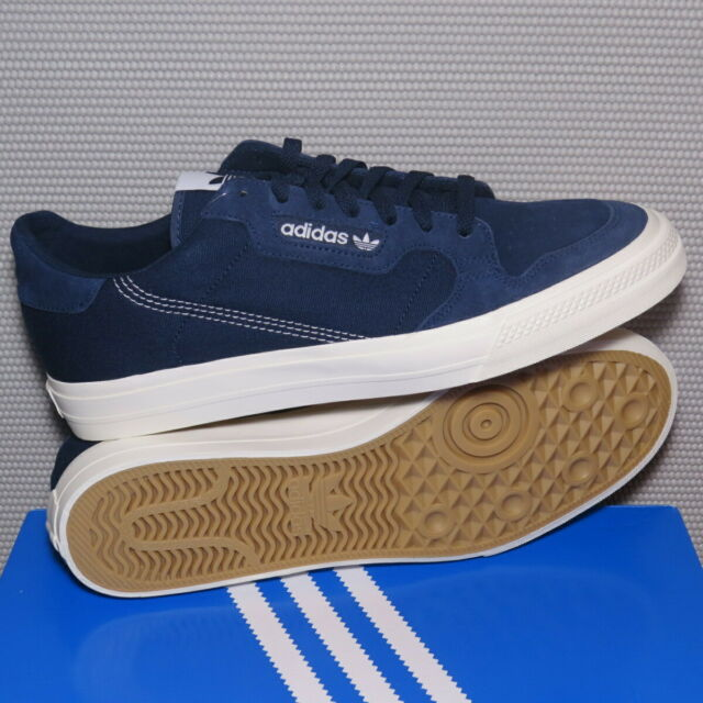 Navy Blue Suede Trainers Retro