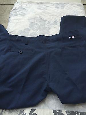 Cintas FR 746-20 34X32 Flame Resistant Blue Navy Pants ARC1 Good Condition