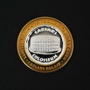 Ltd Ed Colosseum Caesars Palace Las Vegas $10 Silver Casino Token .999 FineA1971