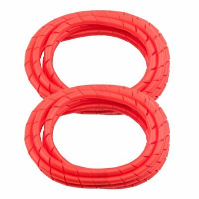 MD Premium 8/' Cord Wrap Prevents Cord Tangling Red