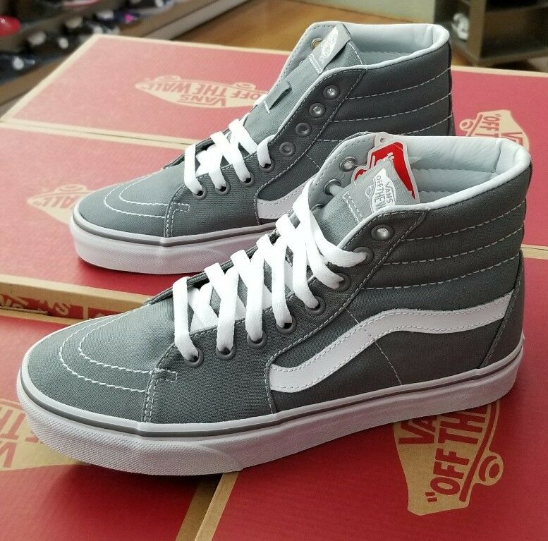 VANS SK8-HI CANVAS FROST GREY VN000TS9L5O MEN US SZ 5