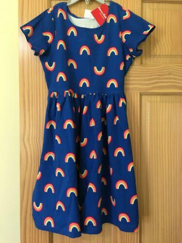 NWT Hanna Andersson Navy Blue Rainbow Dress Girls