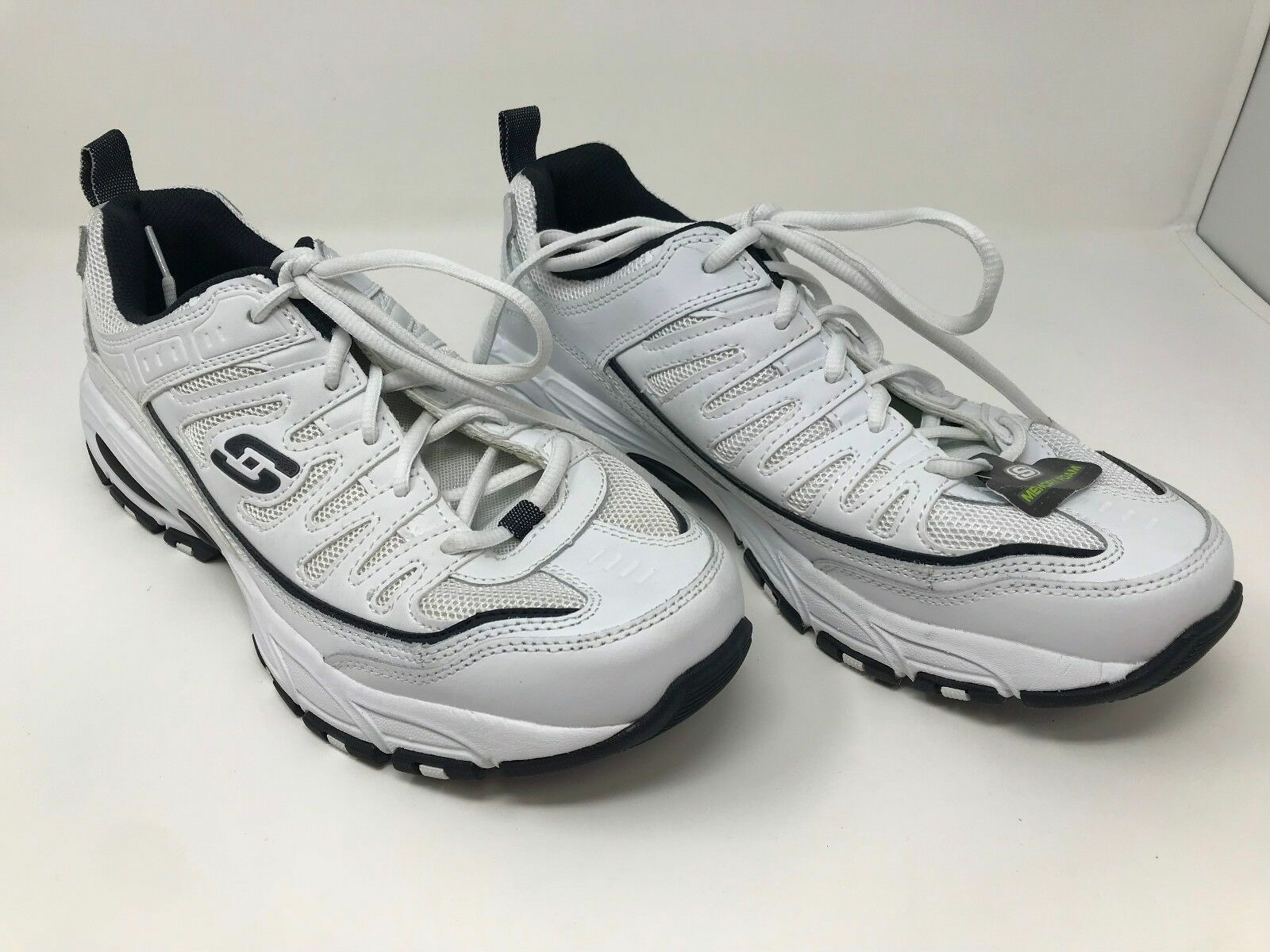New  Men's Skechers 50035 After Burn Memory Fit Trainers White B68
