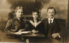 Frau, Familie, lesende Frau, Foto-AK, Midget Studio Chemnitz, 1914/15