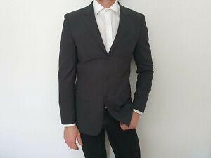 HUGO BOSS RED Label Anzug Sakko Hose blau schwarz grau Gr