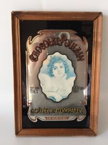 1970-s-Chocolat-Poulain-Vintage-Advertisement-Mirror-Sign