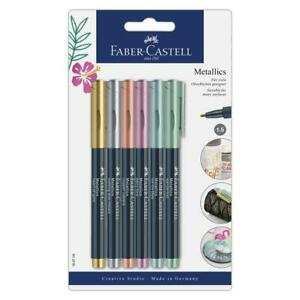 Faber-Castell-FC160706-Metallic-Markers-6-colors