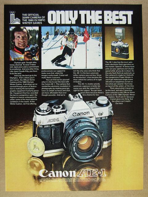 1979 Jean-Claude Killy photo CANON AE-1 35 mm appareil photo vintage print ad