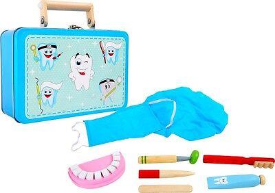 ZAHNARZTPRAXIS IM KOFFER für Kinder Arzt Zahnarzt Holz