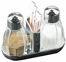 New Fackelmann Salt And Pepper Shaker Cruet Set Glass Toothpicks 473187