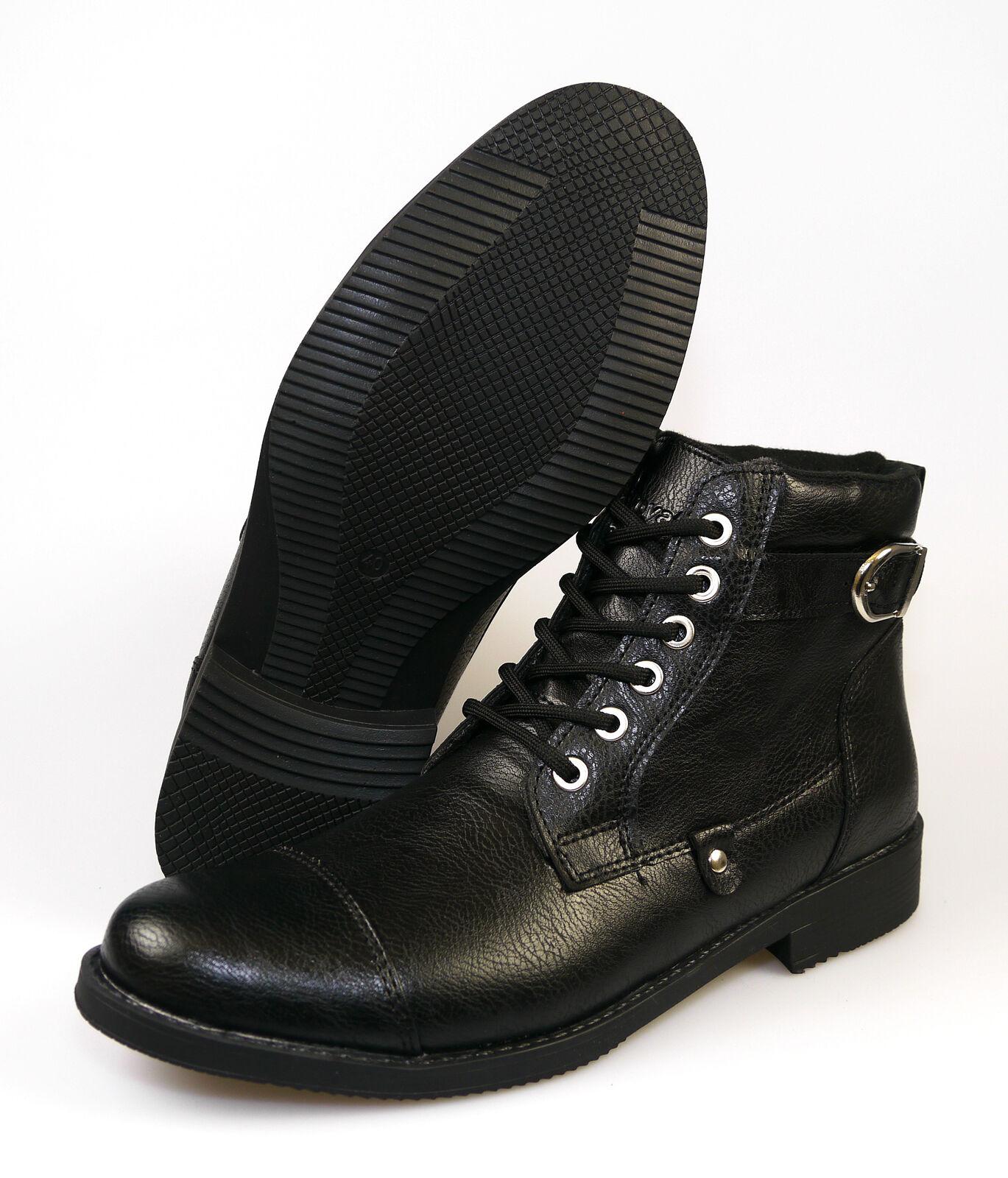 AB D 500 Royalty Messieurs délaçage délaçage délaçage boots taille 40 - 43 Noir NEUF a97523