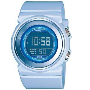 Casio-Baby-G-BGD-100-2-Light-Blue-100m-Women-039-s-or-Girls-Digital-Sports-Watch