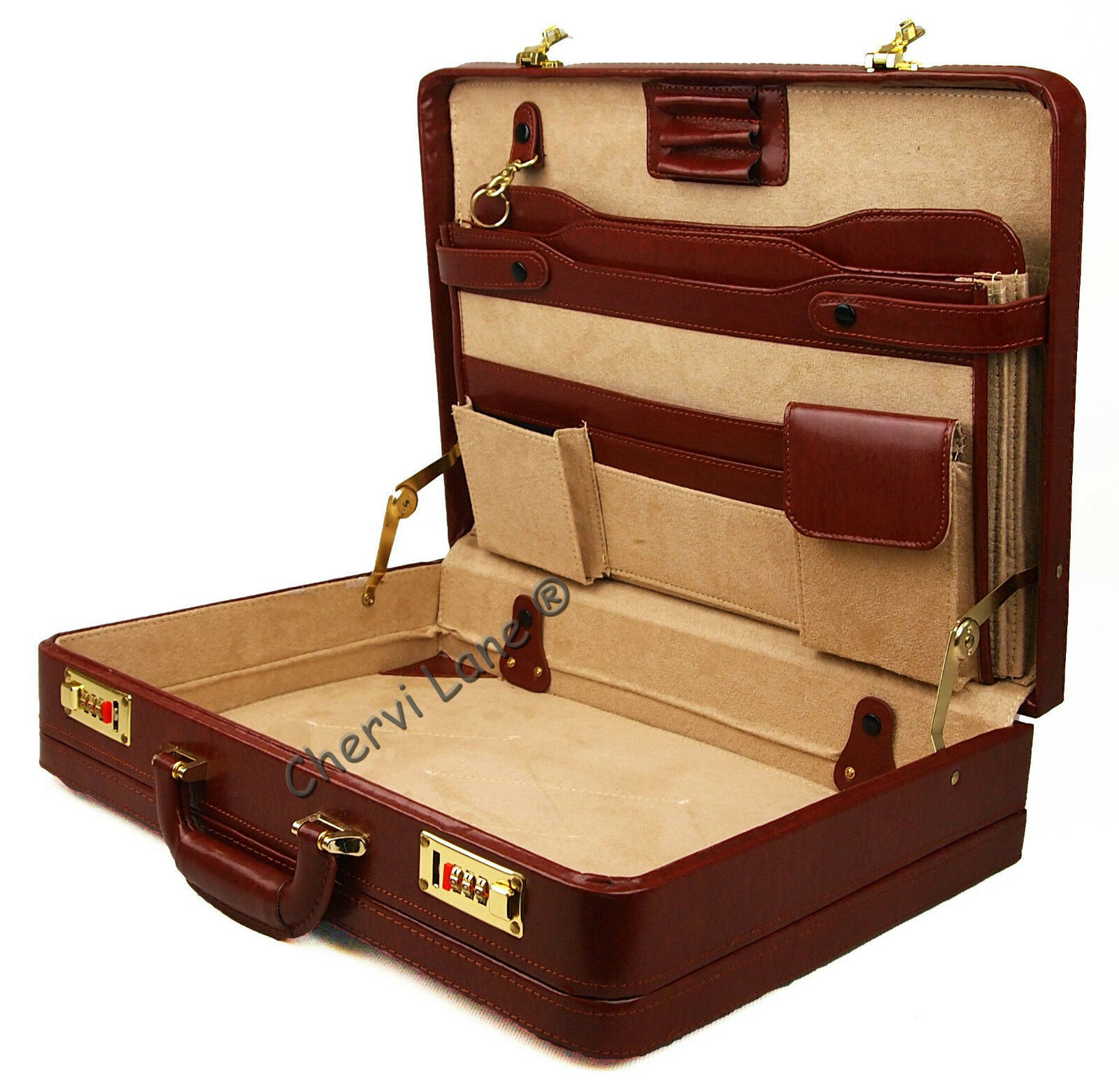 High High High Quality Genuine Leather Briefcase Executive Business Bag Work Briefcase New | Clever und praktisch  fe5d3e
