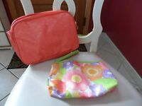 2 Peach Cosmetic Bags By Clinique