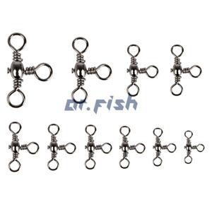 35lb-175lb-Assorted-Swivels-1-3-0-Fishing-Tackles-Three-Way-Snaps-30-60-120pcs