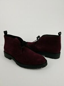 Calvin-Klein-ULTAN-Purple-Mens-SUEDE-CHUKKA-Ankle-Boots-Shoes-Size-10