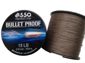 Asso NEW Bullet Proof Copolymer Sea & Carp Fishing Line 4oz Spool - All Sizes