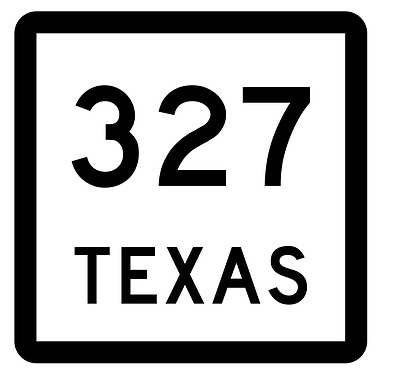 Texas State Highway 327 Sticker Decal R2622 Highway Sign