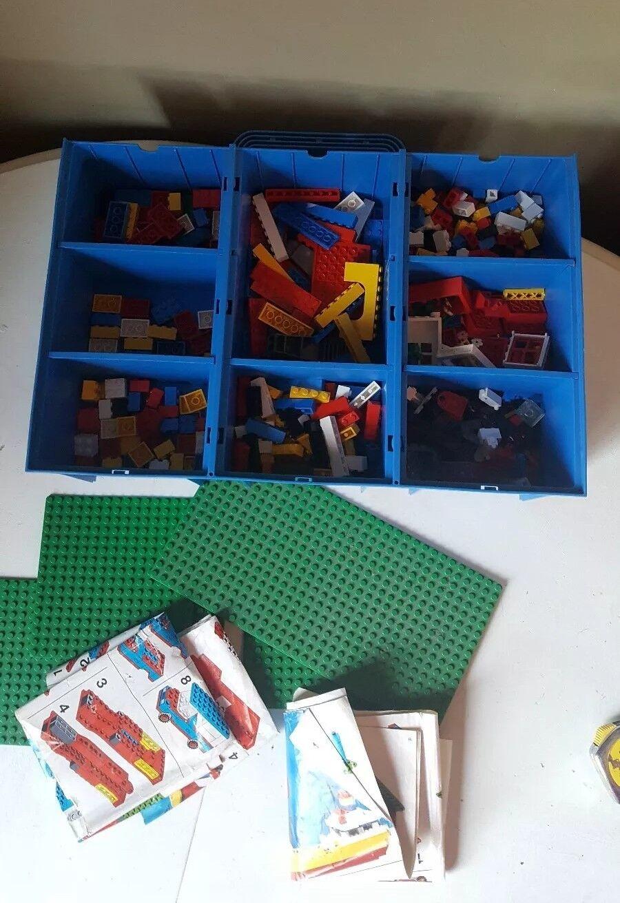 Vintage Lego Briques et transportant Box