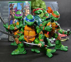 NECA 4pcs TMNT Teenage Mutant Ninja Turtles Michelangelo PVC Figures Toys In Box