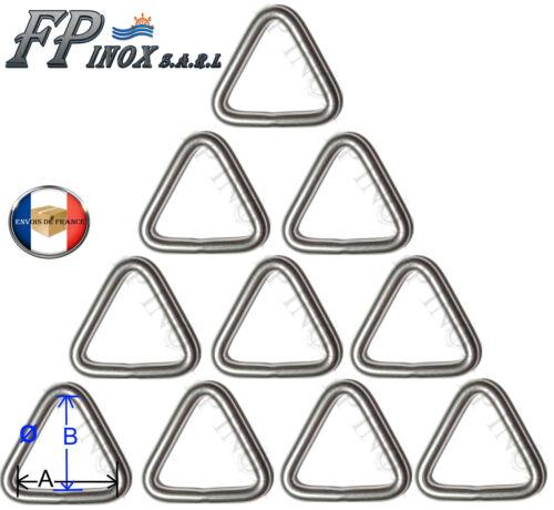 Anneau Triangulaire inox 6mm x 45mm Lot de 10 inox Triangle