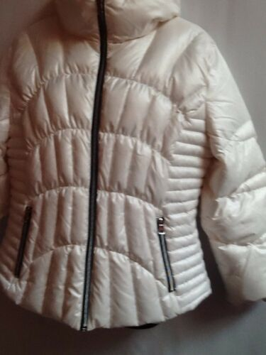 W Zip Front rivet Lommer up Cream Skrå og 4 Xxl Jacket Sort Puff 4Z0XPdXq
