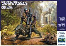 Master Box 1/24 World of Fantasy #2 Girl & Beast (Plastic Model Kit) 24008