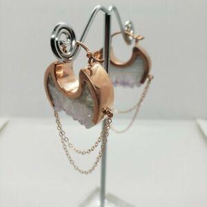 Buddha Jewelry Organics Moonstruck Crystal Earrings Rosegold Bvla