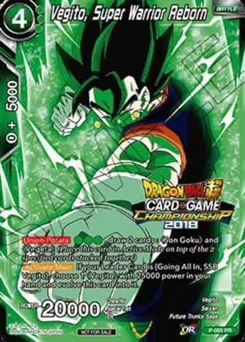 Dragon Ball Super Card Game Championship Promo VEGITO SUPER WARRIOR REBORN P-065
