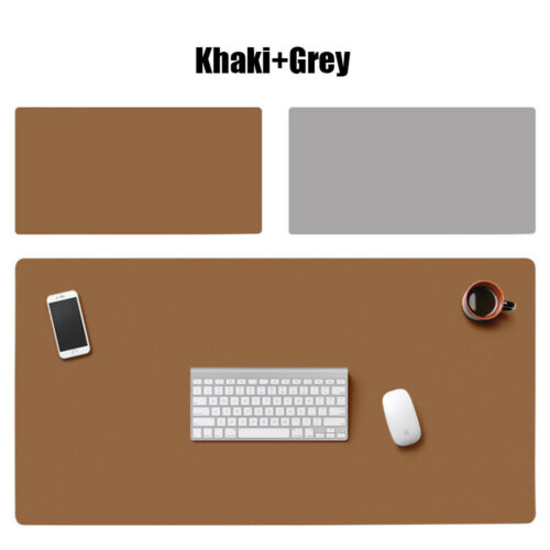 Soft Desktop Laptop Home Office Large Table Mat Mouse Pad Double-sided Leather