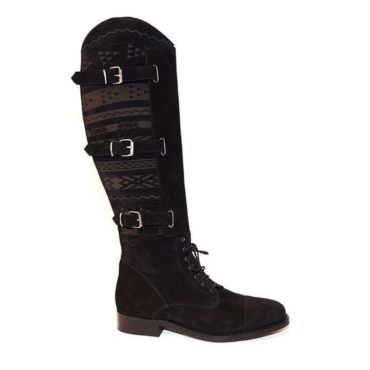 Para Hombre Negro botas De Montar COBRA SOCIETY